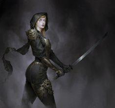 f Cleric Med Armor Cloak Sword Underdark Fantasy Images, Fantasy Women, Dark Fantasy Art, High Fantasy, Dnd Characters, Fantasy Characters, Female Characters, Fantasy Character Design, Character Art