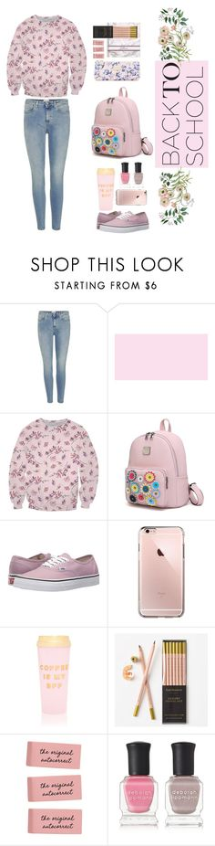 """""""pink to school"""" by bleshka ❤ liked on Polyvore featuring Acne Studios, Vans, ban.do, Katie Leamon and Deborah Lippmann"""