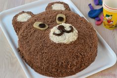 La torta orsetto é una torta per i compleanni dei piú piccoli é semplicissima veloce e non serve lo stampo si cuocino solo i pan di spagna.