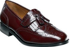 Men's+Florsheim+Brinson+-+Burgundy+Leather+with+FREE+Shipping+&+Exchanges.+This+wing+tip+kiltie+tassel+slip-on+features+a+high+quality+upper,+leather+