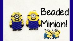Minions are just so cheeky! I couldn't refuse when I was asked to make a tutorial on these brick stitch charms :D