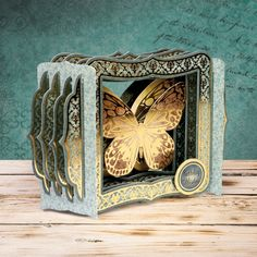 Hunkydory Crafts - Flight Of The Butterflies Vintage Premium A4 Card Kit: Butterfly Echo - Scrapbooking Made Simple