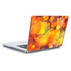 Αυτοκόλλητο laptop Orange Bokeh Laptop Stickers, Bokeh, Orange