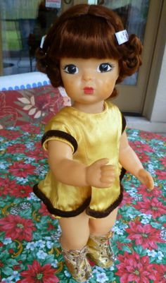 16 1950s Terri Lee doll w auburn hair and ice Skater by mamizory, $150.00