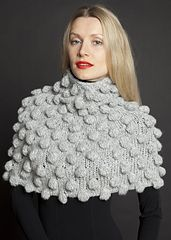 Ravelry: KK 650 Capelet with Bobbles pattern by Berta Karapetyan