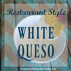 Why go out when you can stay in? Use this Restaurant Style White Queso recipe when your next craving hits! Extra smooth, and creamy cheese dip! Mexican Cheese Sauce, White Cheese Sauce, Cheese Dips, Queso Cheese, White Queso Recipe, White Sauce Recipes, Low Carb Dinner Recipes, Appetizer Recipes, Snack Recipes