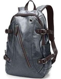 Uiyi рюкзак для мужской спорт путешествия расширенный коровьей искусственная кожа мужская черный рюкзак мешок мужчины Quanlity 120533521 купить на AliExpress