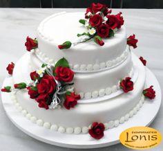 Τούρτα Γάμου #wedding #cakes Wedding Cakes, Desserts, Food, Designer Birthday Cakes, Valentines Day Weddings, Pies, Wedding Gown Cakes, Tailgate Desserts, Deserts