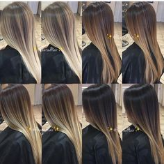 Tons de loiro para todos o estilos e idades! Brown Hair Balayage, Hair Color Balayage, Hair Highlights, Brunette To Blonde, Blonde Hair, Ash Blonde, Gorgeous Hair Color, Ombré Hair, Hair Shades