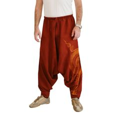 ed5610b4451 Aladdin Harem Pants Men Red - Fabric  Aladdin Pants made of Cotton Outer  Leg  41 Inner Crotch  Waist Style  Elastic