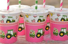 John Deere Girl Party Cups Birthday PartySet of by SignatureAvenue, $10.40