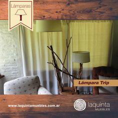 En Laquinta podrás encontrar lámparas originales e innovadoras, elaboradas con madera y ramas combinadas, para iluminar creativamente tus espacios.  Hoy te presentamos la Lámpara Trip. Encontrá nuestro catálogo completo en http://www.laquintamuebles.com.ar/