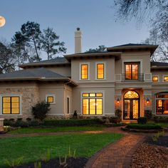 Stone And Stucco Home... This is what I want my house to look like from the outside :D