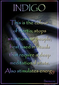 Candles: Indigo #Candle ~ This is the color of ... / Book of Shadows