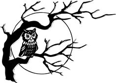 Owl On Tree Branch clip art - vector clip art online, royalty free ... - ClipArt Best - ClipArt Best