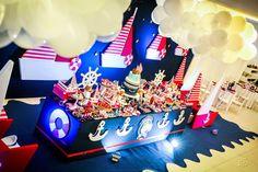Decoração de festa infantil no tema marinheiro por Douce Enfant