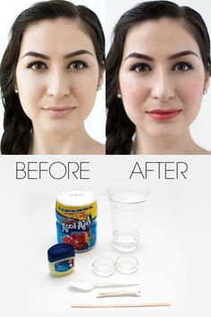 Just in time for the Fourth of July, we decided to introduce a beauty hack showcasing one of America's favorite summertime staples: Kool-Aid. And sure, while you may have likely graduated from guzzling the sugary libation to nursing a beer for Independence Day, your most beloved childhood drink (besides SunnyD, of course) is now getting a grown-up makeover in the form of a totally cool (and dare we say, even patriotic) makeup trick. Here, find out how to transform this classic red…