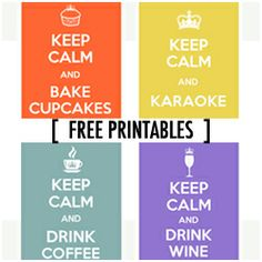 """Really cute for the Kitchen!!Free Printable """"Keep Calm"""""""
