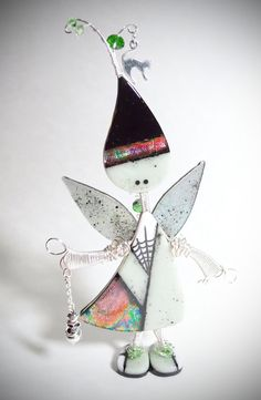 Fairy Witch  Lil' Darlings Fused Glass Art by CoalescentAlchemy