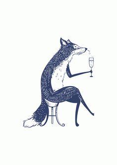 #Blue Fox Esquire, #HambledonVineyard. Commissioned by @Tricia Falmer Kleinheider Mgt, illustrated by #Fuzzco - brilliant!