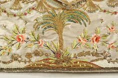 Ensemble (image 11 - waistcoat detail) | French | 1765 | silk, metal | Metropolitan Museum of Art | Accession Number: 1994.405.1a–f