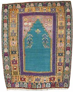 Turkish Kilims: Ezurum Prayer Kilim d. 1868 lot 24a