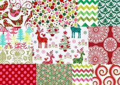 Christmas Fabric 12 Piece Fat Quarter Bundle Michael Miller Prints