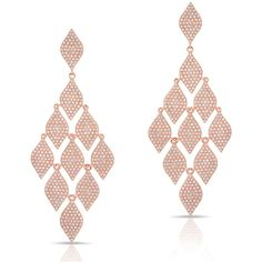 Anne Sisteron  14KT Rose Gold Diamond Egyptian Earrings (19,295 PEN) ❤ liked on Polyvore featuring jewelry, earrings, brinco, rose, egyptian jewelry, long dangle earrings, long earrings, rose jewelry and diamond jewelry