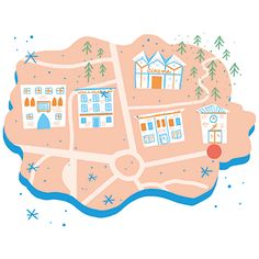 Maps, illustration for a Children's book festival in Italy.