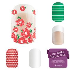 May Flowers - May 2015 Jamberry Sister Style Exclusive Wrap I will be pairing it with Poppy&White Polka, Whiteout, French Tip, and Arcade! See more at www.getperfectnailsblog.com Shop for May Flowers here - http://simplenailsandbeauty.jamberrynails.net/product/may-flowers#.VUNyvZPSW2Y #MayFlowers