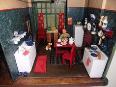 Antique Tudor DOLL HOUSE 3/4 Scale HOBBIES of DEREHAM Strombecker Furniture 1934 | eBay