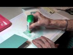 using vellum in embossing on a card - beautiful Christmas card!
