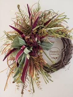 Wreaths and Floral arrangements as unique as you are. Autumn Wreaths, Deco Mesh Wreaths, Holiday Wreaths, Thanksgiving Wreaths, Wreath Fall, Grapevine Wreath, Grape Vines, Outdoor Wreaths, Decoration