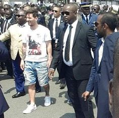 Ekpo Esito Blog: Lionel Messi arrives Gabon to commission new Stadi...