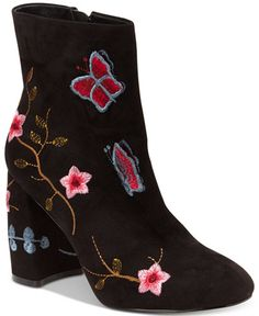 fe44c555b2c Nanette Lepore Nanette by Lilly Embroidered Booties   Reviews - Boots -  Shoes - Macy s