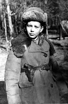 Little partisan Volodya Bebekh from the Chernigov Detachment named after Stalin.