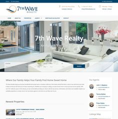 WordPress site 7thwaverealty.com uses the Realsite Child wordpress website template