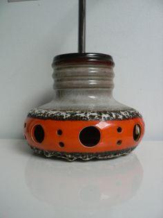 Vintage 1970s ceramic Dutch Herda pendant lamp/ by secreteyesonly, $135.00