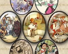 Assorted Alice in Wonderland Instant Digital by ValentineGrimm, $3.30