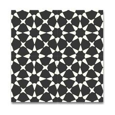 Medina Black and White Handmade Cement and Granite Moroccan 8-inch x 8-inch Floor and Wall Tile (Pack of 12)