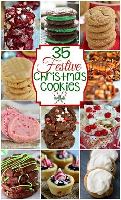 35 Festive Christmas Cookies for your holiday entertaining needs! Peppermint, chocolate, ginger and more! All the fabulous flavors of the holiday season!  MomOnTimeout.com    #roundup #christmas recipe #dessert #spon Christmas Cookie Exchange, Best Christmas Cookies, Christmas Snacks, Xmas Cookies, Xmas Food, Christmas Cooking, Yummy Cookies, Christmas Candy, Köstliche Desserts