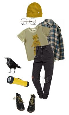 """""""ghost hunting"""" by lemonscentedgay on Polyvore featuring Humör, Dr. Martens and Madewell"""