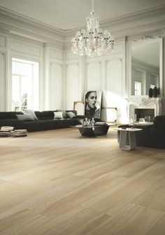 Argento Maple Porcelain, Wood effect tiles. The Argento collection offers an extra-wide plank option and in five authentic colours. The beauty of natural wood but with the practicality of porcelain! Outdoor Porcelain Tile, Porcelain Wood Tile, Wood Effect Floor Tiles, Wood Look Tile, Transitional Living Rooms, Transitional House, Transitional Lighting, 3d Design, Modern Flooring