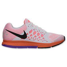 Women's Nike Air Pegasus 31 Running Shoes| Finish Line | White/Black/Bright Mango/Grape