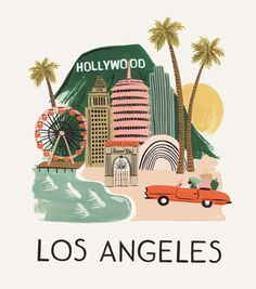 Love this Los Angeles Print found on riflepaperco.com
