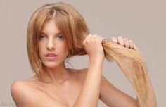 Masks for repairing split ends. Damaged hair tips