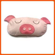 Cute Felt Pig Sleep Mask - Dont forget to travel (*Amazon Partner-Link)