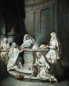 Vierges antiques, détail, J. Raoux