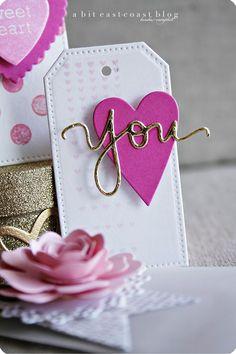 A Bit East-coast: mini valentine pockets & tags. Love Valentines, Valentine Day Cards, Card Tags, Gift Tags, Handmade Tags, Paper Tags, Copics, Love Cards, Scrapbook Cards