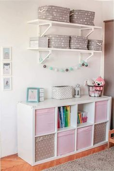 Toddler girl room - Everything in its place kidsroom kidsroomdecor organization pink kidsroomstorage Bedroom Storage Ideas For Clothes, Bedroom Storage For Small Rooms, Girls Bedroom Organization, Toddler Room Organization, Kids Bedroom Furniture, Bedroom Decor, Rustic Furniture, Modern Furniture, Bedroom Ideas